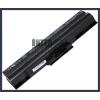 Sony VAIO VGN-CS19/R 4400 mAh 6 cella fekete notebook/laptop akku/akkumulátor utángyártott