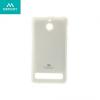 Sony Xperia E1, TPU szilikon tok, Mercury Goospery, csillámporos, fehér