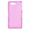 Sony Xperia Z3 Compact, TPU szilikon tok, rózsaszín