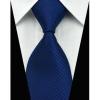 Sötétkék nyakkendő mandzsettagombbal és díszzsebkendővel