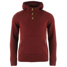 SoulCal férfi pulóver - SoulCal Button Knit Hoody Mens Burgundy