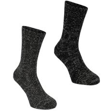 SoulCal SoulCal férfi zokni, 2 pár/csomag, Fekete/Szénszürke - SoulCal 2 Pack Boot Socks