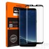 Spigen Glas.tR Curved Samsung Galaxy S9+ Tempered Glass hajlított kijelzővédő fólia, fekete