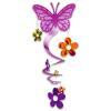 SPIRÁL dekoráció pillangó és virág mintával