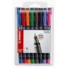 """STABILO Alkoholos marker készlet, 0,4 mm, STABILO \""""OHPen S\"""", 8 különböző szín [8 db]"""