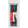 """STABILO Alkoholos marker készlet, 0, 7 mm,  """"OHPen F"""", 4 különböző szín"""