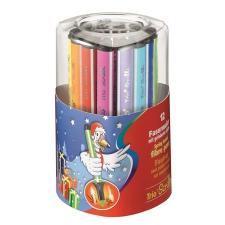 """STABILO Filctoll készlet, 1,5-2 mm, rugós hegy, STABILO """"Trio Scribbi"""", 12 különböző szín filctoll, marker"""