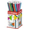 "STABILO Grafitceruza display, HB, háromszögletû, vastag, STABILO ""Trio thick"""