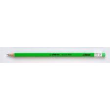 "STABILO Grafitceruza radírral, HB, hatszögletű, STABILO ""Swano Neon"", zöld ceruza"