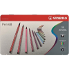 """STABILO Rostirón készlet, 1 mm, fém doboz, STABILO """"Pen 68"""", 50 különböző szín"""