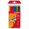 """STABILO Színes ceruza készlet, háromszögletű,  """"Trio"""", 12 különböző szín"""