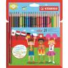 STABILO Színes ceruza készlet, hatszögletű, STABILO Color, 24 különböző szín (TST192477)