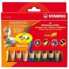 """STABILO Színes ceruza készlet, kerek, vastag, STABILO """"Woody"""", 10 különböző szín (TST88010)"""