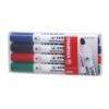 """STABILO Táblamarker készlet, 2,5-3,5 mm, kúpos, STABILO \""""Plan\"""", 4 különböző szín [4 db]"""