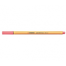 "STABILO Tűfilc, 0,4 mm, STABILO ""Point 88"", neon piros filctoll, marker"