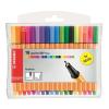 """STABILO Tűfilc készlet, 0,4 mm,  """"Point 88 Mini Neon"""", 18 különböző szín"""