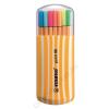 STABILO Tűfilc készlet, 0,4 mm, STABILO Point 88 Zebrui, 15+5 különböző szín (TST882020)