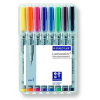 """STAEDTLER Alkoholmentes marker készlet, OHP, 0,4 mm,  """"Lumocolor 311 S"""", 8 különböző szín"""