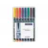 """STAEDTLER Alkoholos marker készlet, OHP, 1 mm, STAEDTLER """"Lumocolor 317 M"""", 8 különböző szín"""
