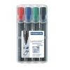 """STAEDTLER """"Lumocolor 350"""" 2-5 mm vágott 4 különböző szín alkoholos marker készlet"""