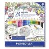 """STAEDTLER Színes ceruza készlet, háromszögletű, STAEDTLER """"Ergo Soft"""" Johanna Basford lim.ed."""