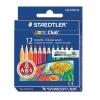 """STAEDTLER Színes ceruza készlet, hatszögletű, félhosszú, STAEDTLER """"Noris Club"""", 12 különböző szín"""