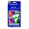 STAEDTLER Színes ceruza készlet radírral, hatszögletű, STAEDTLER Noris Club, 12 különböző szín (TS14450NC12)