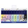 STAEDTLER Szövegkiemelő készlet, 1-5 mm, STAEDTLER Textsurfer Classic Pastel, 10 különböző szín (TS364CWP10)