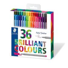 """STAEDTLER Tűfilc készlet, 0,3 mm,  """"Triplus"""" 36 különböző szín filctoll, marker"""