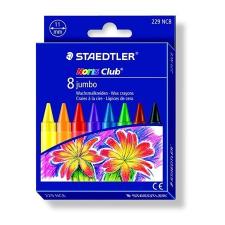 "STAEDTLER Zsírkréta, STAEDTLER ""Noris Club Jumbo"", 8 különböző szín kréta"