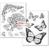 Stamperia Transzfer papír - Lepkés és Rózsás minta együtt - 2 ív A4