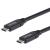 Startech USB 2.0 Type C Összekötő Fekete 50cm USB2C5C50CM