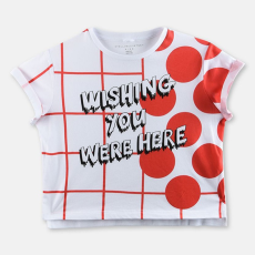 Stella McCartney Plum Plaid Print T-shirt