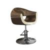 Stella szatén barna-bézs hidraulikus fodrász szék SX-2107