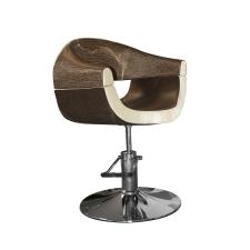 Stella szatén barna-bézs hidraulikus fodrász szék SX-2107 bútor