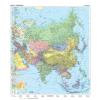 Stiefel Ázsia, domborzati + politikai kétoldalas óriás térkép poszter