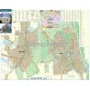 Stiefel Békés-Mezőberény térkép, keretezett