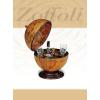 Stiefel Eurocart Kft. Bárföldgömb barna asztali (a gömb teteje oldalra nyitható)