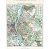 Stiefel Eurocart Kft. Budapest fő- és székváros térképe fakeretben