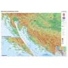 Stiefel Eurocart Kft. Horvátország domborzati térképe, tűzhető, keretes