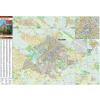 Stiefel Eurocart Kft. Kecskemét térkép keretezett, tűzhető