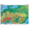 Stiefel Eurocart Kft. Közép-Európa, domborzati   vaktérkép DUO