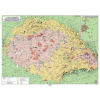 Stiefel Eurocart Kft. Magyar néprajzi térkép fémléces