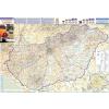 Stiefel Eurocart Kft. Magyarország autótérképe a járáshatárokkal keretezett