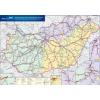 Stiefel Eurocart Kft. Magyarország vasúti árufuvarozási térképe írható-törölhető fémléccel