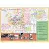 Stiefel Európa a két világháború között kétoldalas óriás falitérkép poszter