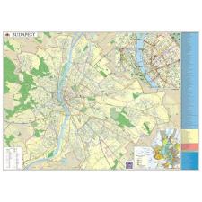 Stiefel Falitérkép, 100x140 cm, fémléces, Budapest térképe STIEFEL tapéta, díszléc és más dekoráció