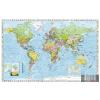 Stiefel Falitérkép, 136x96 cm, fakeret, tűzhető, Föld országai, STIEFEL