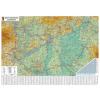Stiefel Falitérkép, 70x100 cm, fakeret, tűzhető, Magyarország autótérképe, STIEFEL
