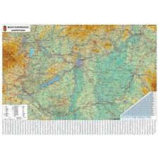 Stiefel Falitérkép, 70x100 cm, fakeret, tűzhető, Magyarország autótérképe, STIEFEL térkép